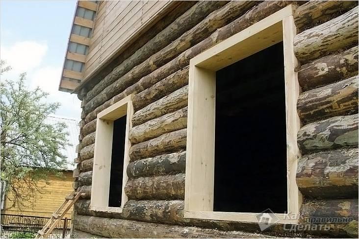 Что такое обсада (окосячка) окон, дверей в деревянном доме: виды, схема установки, видео
