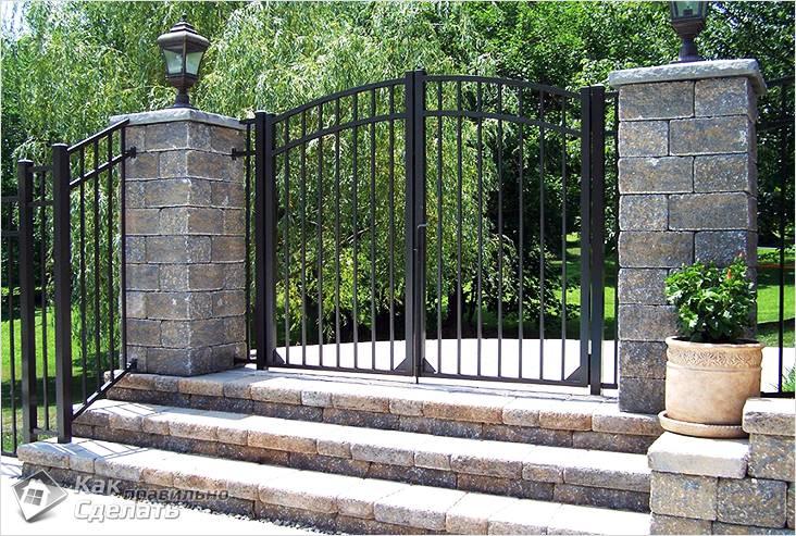 Арт распашные ворота