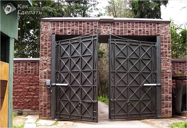 Большие распашные ворота