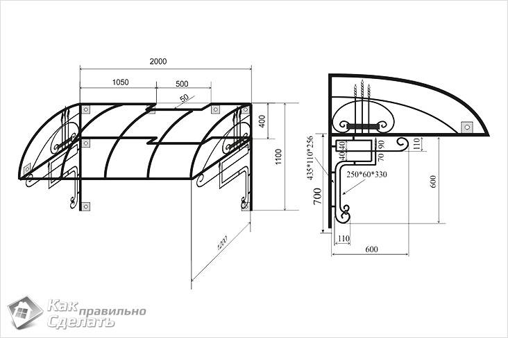 Какой поликарбонат выбрать для навеса: все важные параметры. Строим навес из поликарбоната своими руками