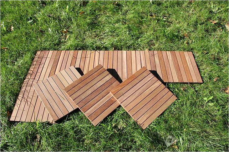 Из деревянных щитков