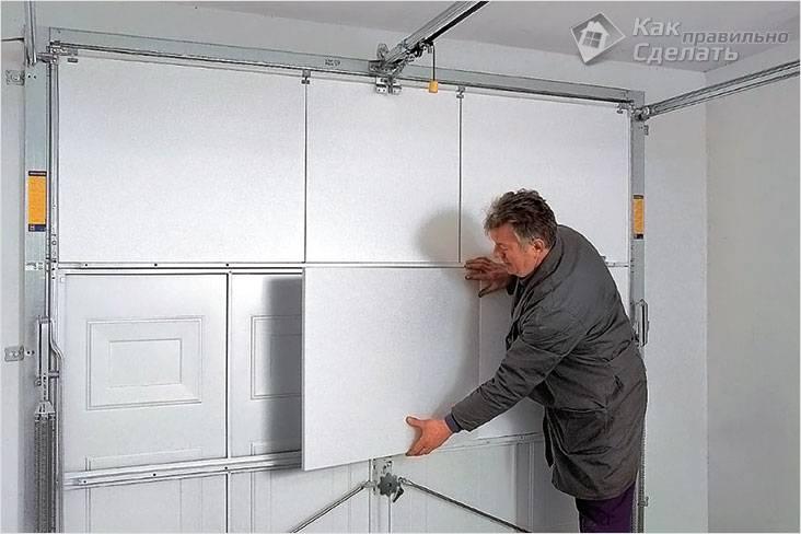 Фото гаражные ворота своими руками