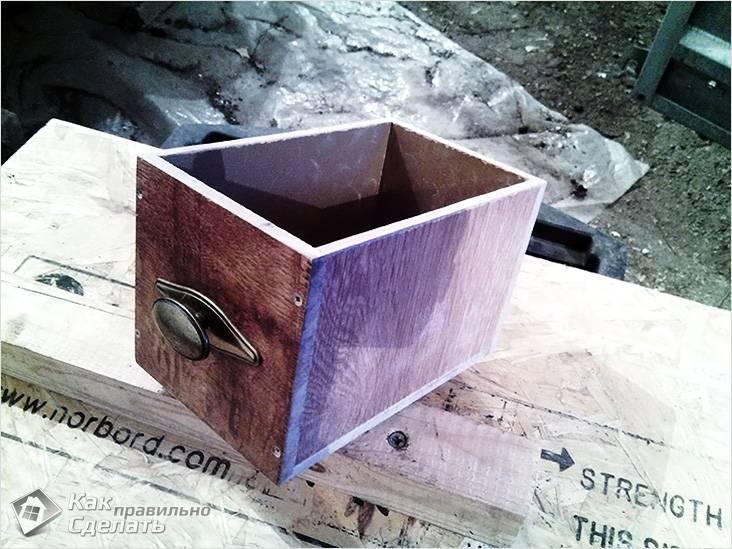 Маленький ящик из ламината