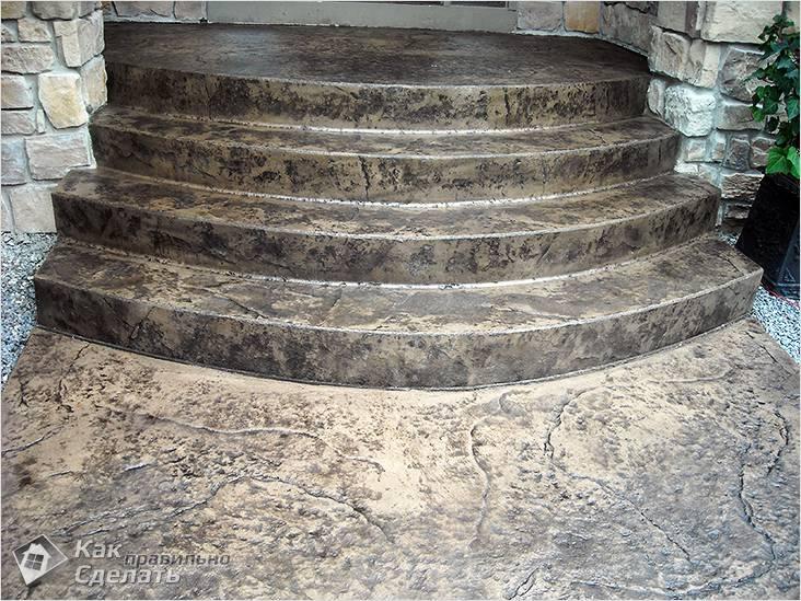 Преимущества крыльца из бетона