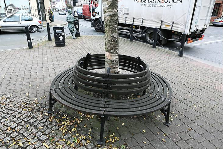 Скамейка вокруг дерева своими руками чертежи, фото