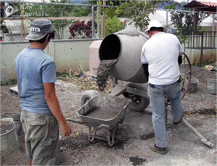 Технология бетонирования и сооружения ступенек