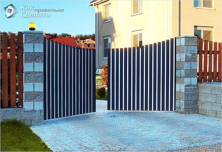 Виды металлических распашных ворот