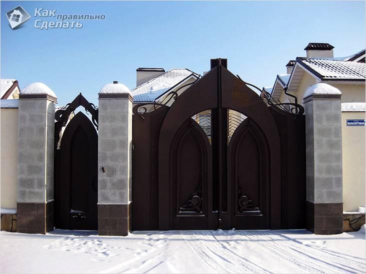 Ворота причудливой формы
