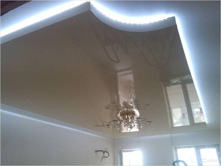Как сделать парящий натяжной потолок, Коломна (фото)