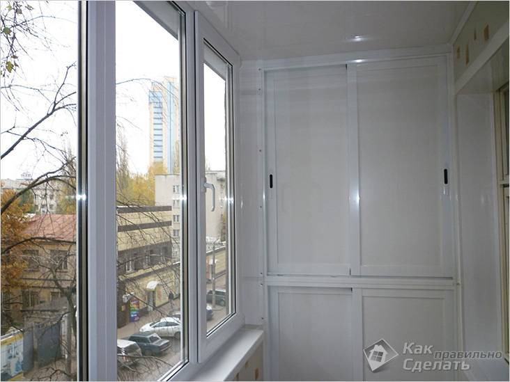Балкон с металлопластиковыми окнами