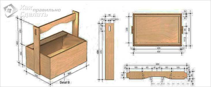 Ящик для инструментов своими руками чертежи