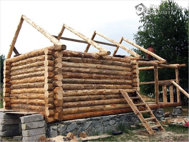 Как построить баню с видио