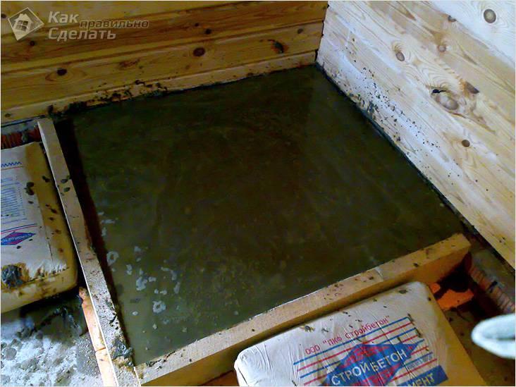 Фундамент для кирпичной печки-каменки