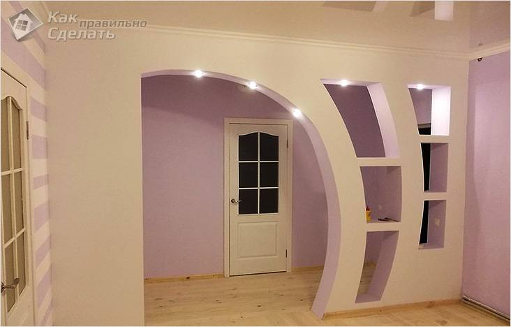 Гипсокартонные арки