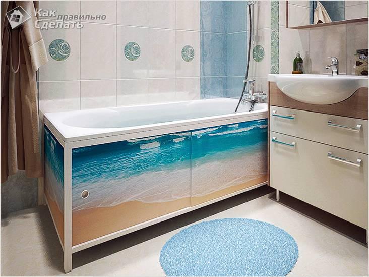 Экран для ванной своими руками