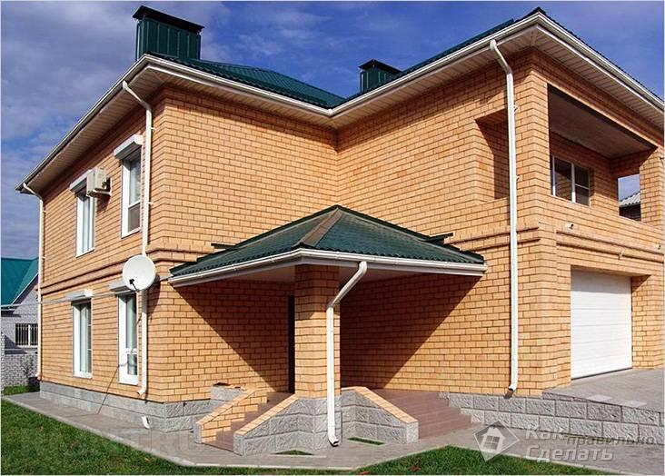 Кирпичный дом нестандартной планировки