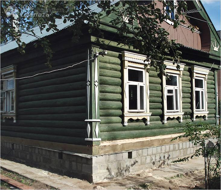 Кирпичный фундамент под старый дом