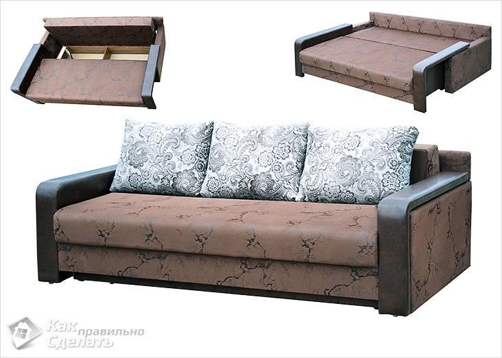 Конструкция дивана еврокнижки