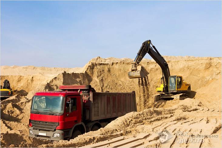 Лучше покупать песок в месте добычи