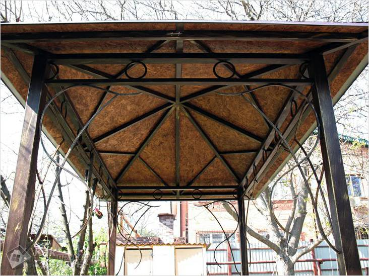 Металлическая крыша, обшитая ОСB плитой