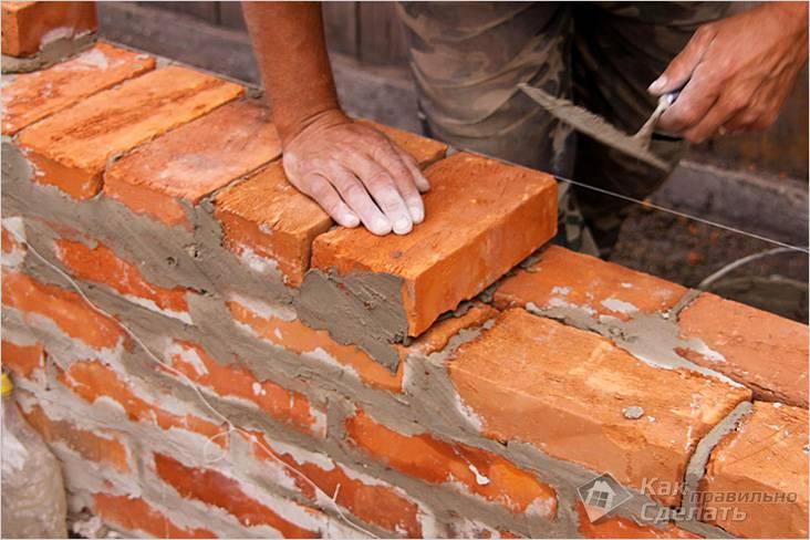 Основные моменты кладки стен из кирпича