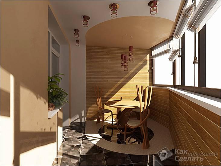Пример комнаты с балконом