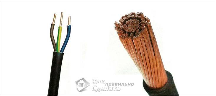 Различие между многожильным и многопроволочным кабелем