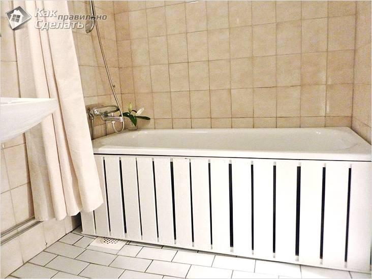 Экран под ванну своими рукам