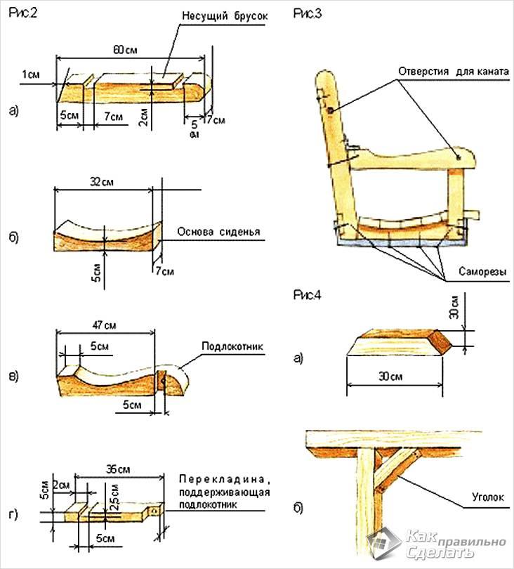 Схема сиденья