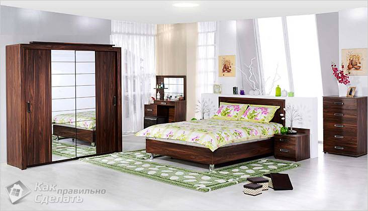 В такой спальне непросто найти подходящее для кондиционера место