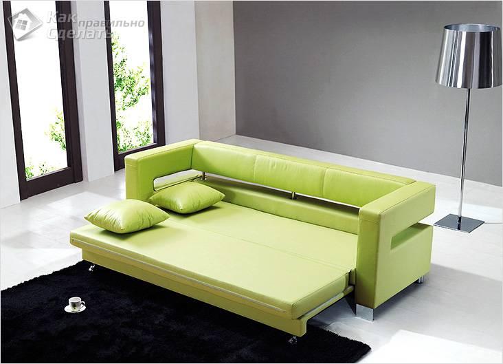 Выдвижной диван на колесиках