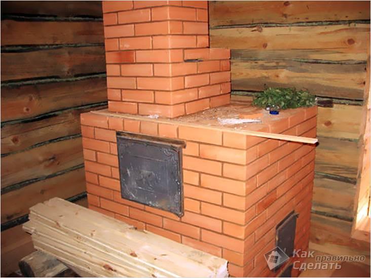 Кирпичная печь на прочном фундаменте