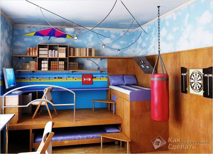 С выдвижной кроватью в детской