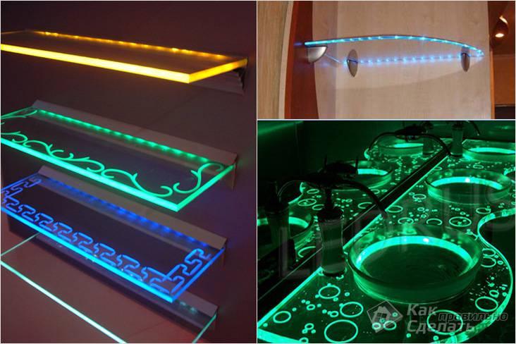Разнообразие светодиодной подсветки