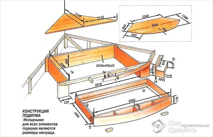 Сделать кровать с выдвижной кроватью своими руками