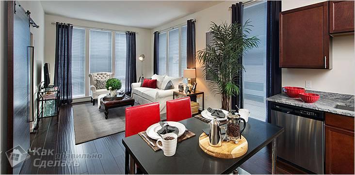 Оформление гостиной в квартире