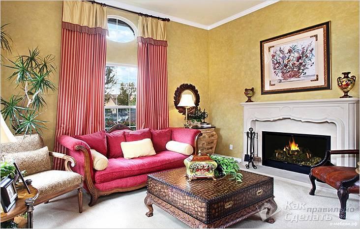 Обои и шторы под цвет мебели