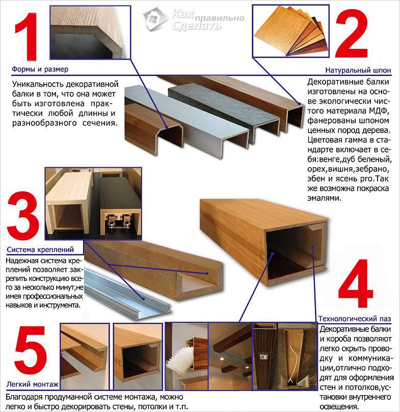 Преимущества и особенности декоративных балок