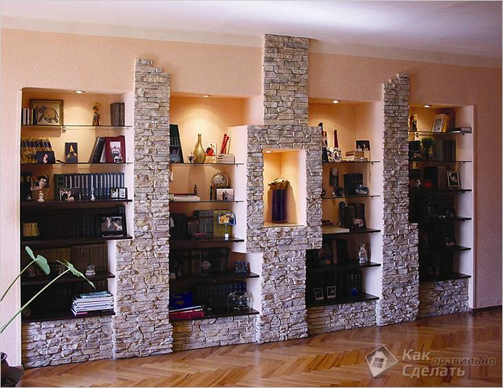 Разделение зоны декоративными колоннами