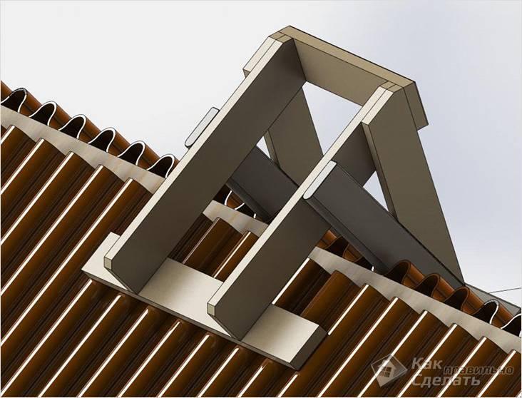 Лестница для крыши своими руками