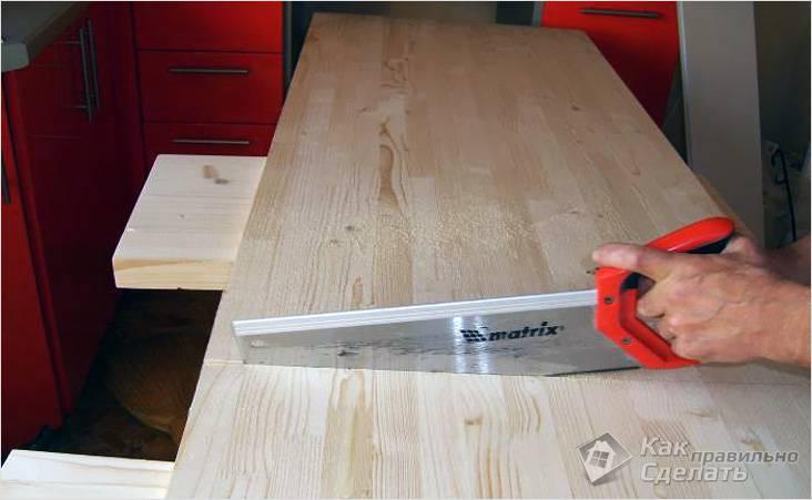 Изготовление столешницы из дерева