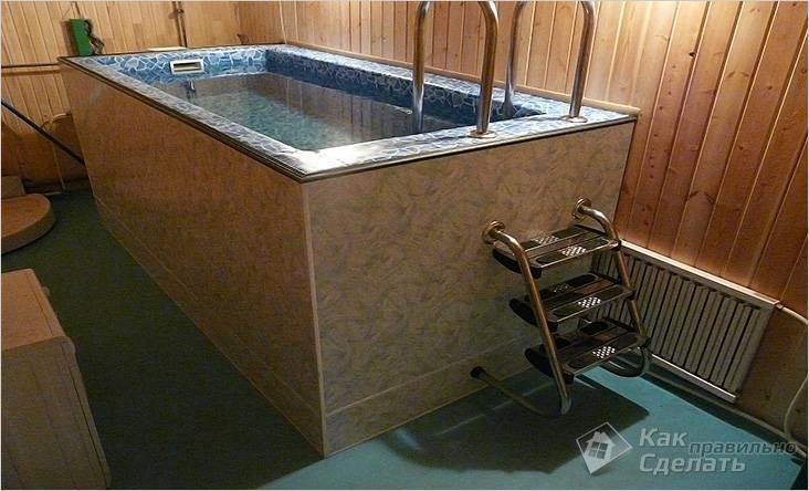 Бассейн в бане 1×2