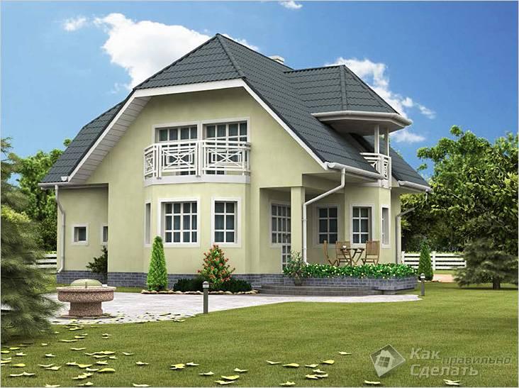 Дом из газоблоков с мансардой