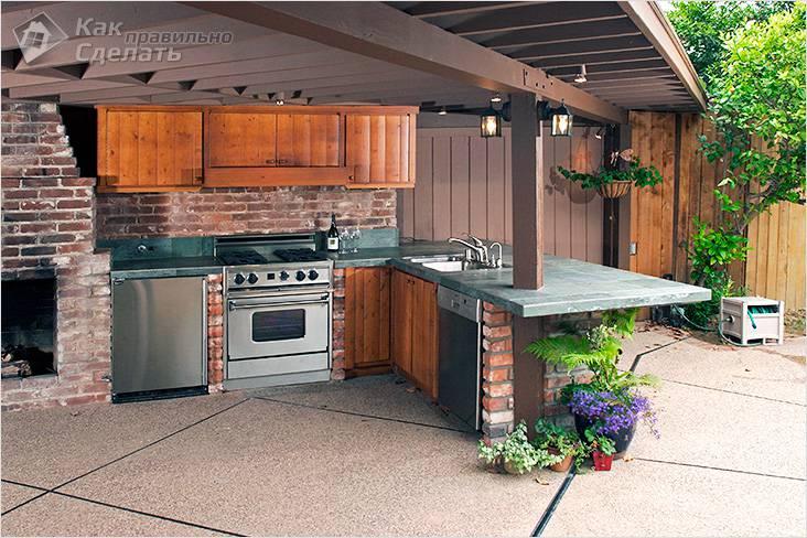 Как построить летнюю кухню своими руками
