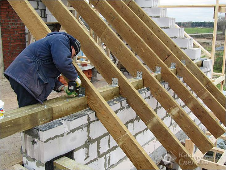Крыша дома из газобетона