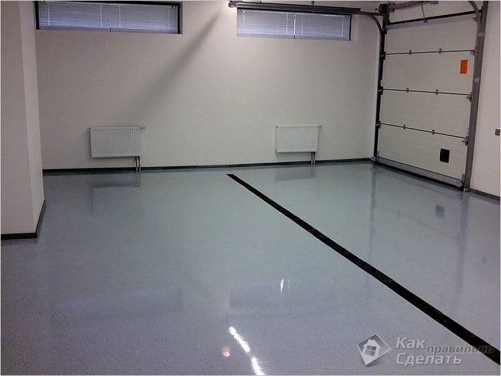 Наливной пол в гаражном помещении
