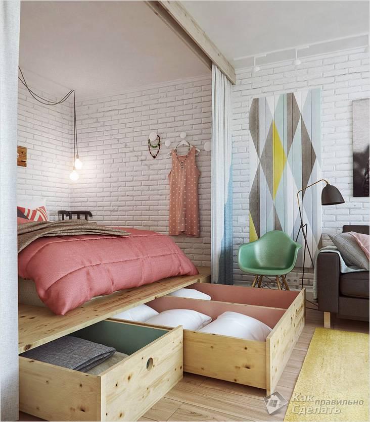 Подиум для спального места