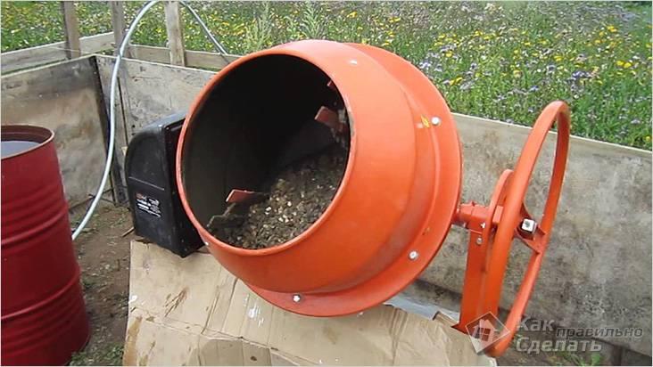 Приготовление бетона в бытовых условиях