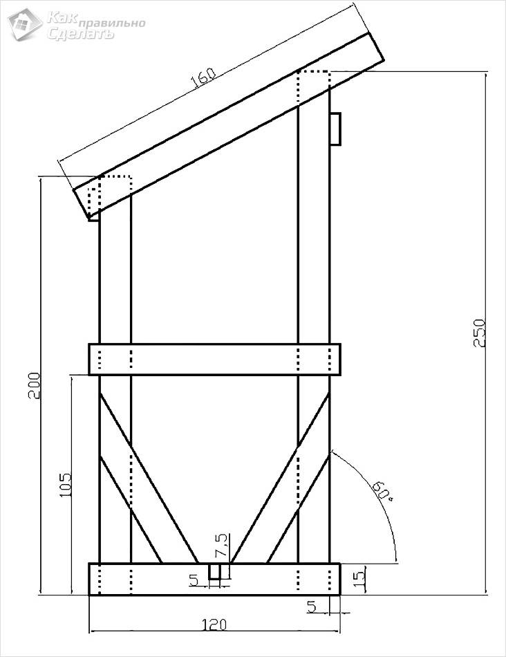 Схема маленького туалета