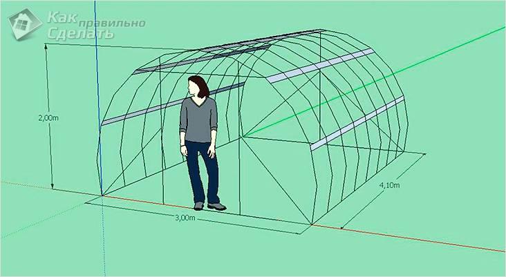Схема определения высоты